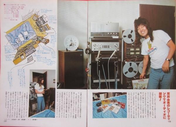 かまやつひろし 自宅 ミュージックルーム 1976 切り抜き 3ページ S60NTM