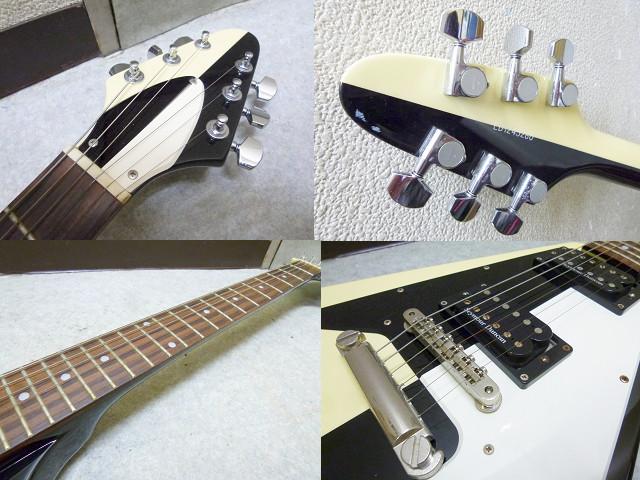 メーカー不明 フライングV タイプ エレキギター ケース付き(3733)_画像2