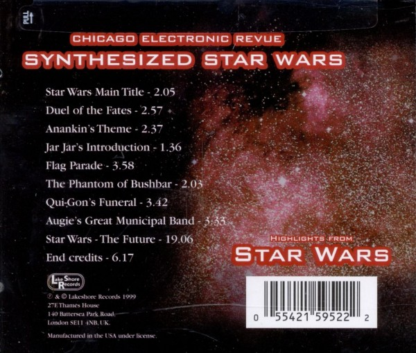 SYNTHESIZED STAR WARS Chicago Electronic Revue 新品未開封_画像2