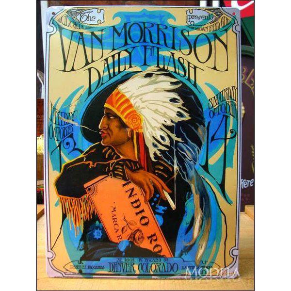 アメリカンブリキ看板 ヴァン・モリソン/Van Morrison【P-973】sign_celebrity