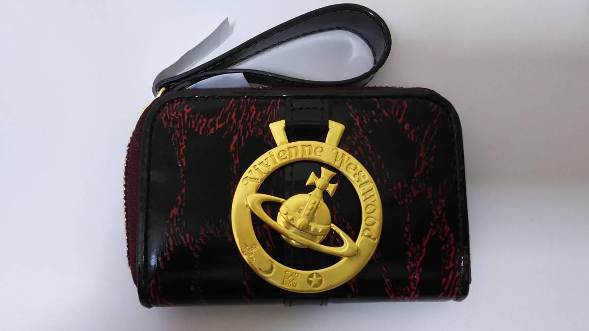(正規品) (送料無料) (個装箱無し) ヴィヴィアン ウエストウッド LF小銭入れ ワインレッド (Vivienne Westwood) gold leopard wr No.2