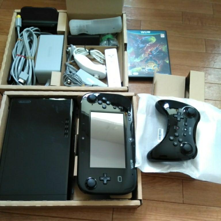 【WiiU】本体 モンスターハンター3 プレミアムセット_画像2