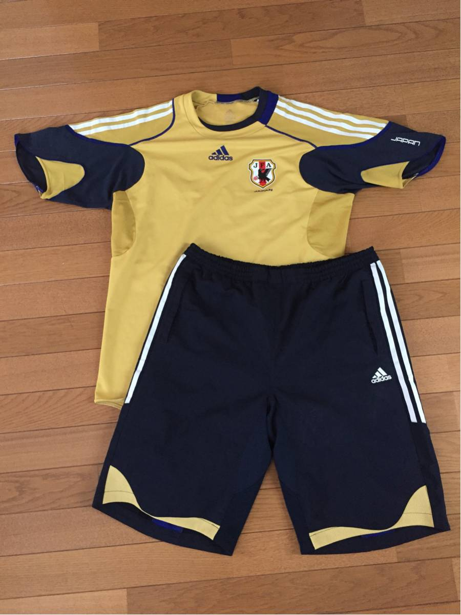 激レア 非売品 adidas JFA サッカー日本代表 支給品 トレーニングシャツ・パンツ 上下セットXOサイズ グッズの画像