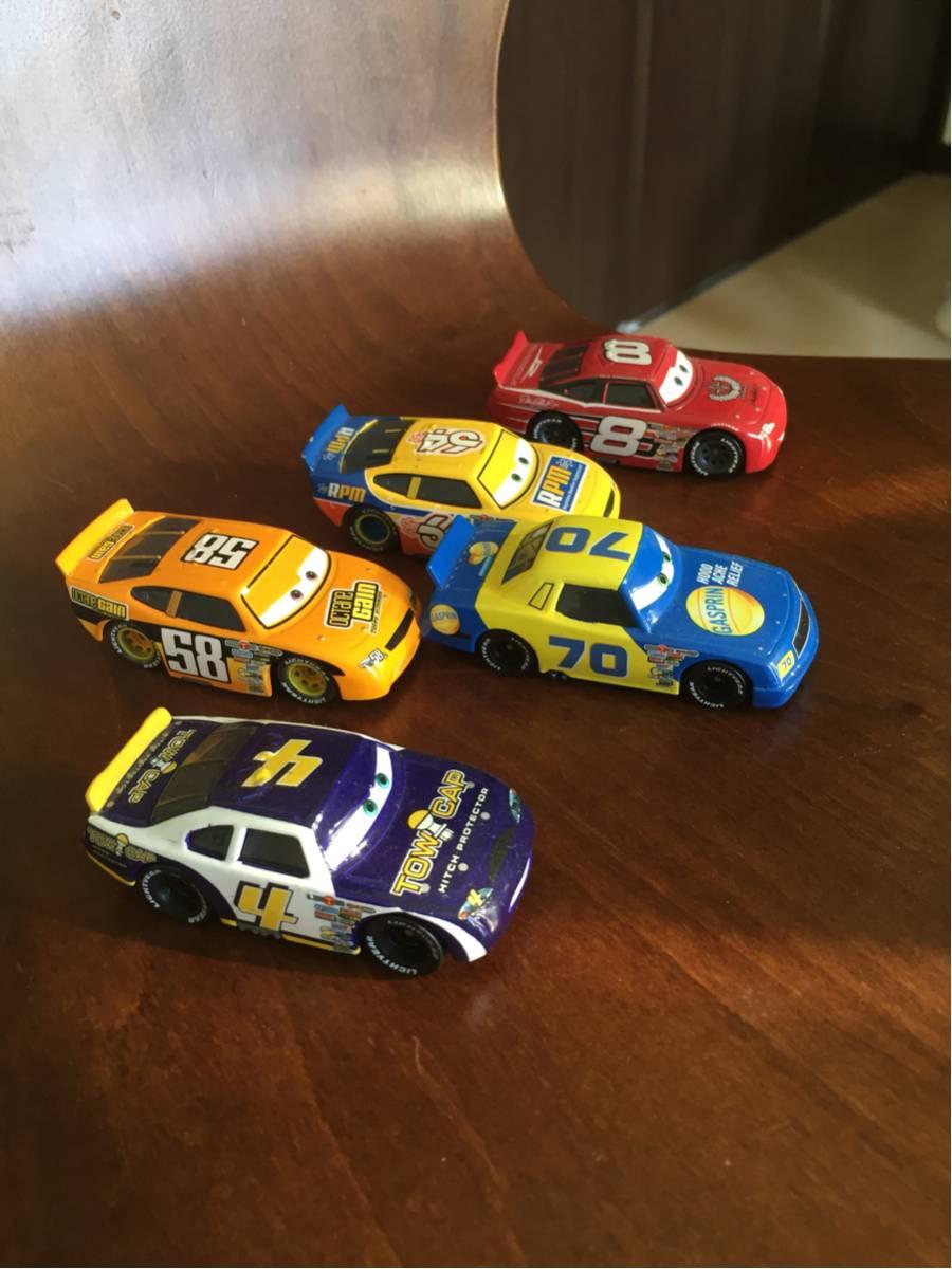 カーズ レースカー 5台セット マテル社絶版希少品 開封品 ディズニー ディズニーグッズの画像