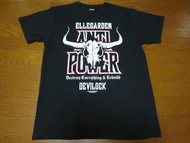 Devilock × ELLEGARDEN 2006 デビロック × エルガーデン 半袖プリントティーシャツ M 黒