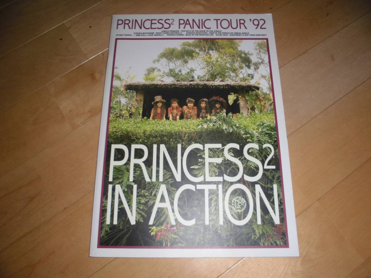 1992//ツアーパンフレット// PRINCESS PRINCESS//プリプリ//プリンセスプリンセス