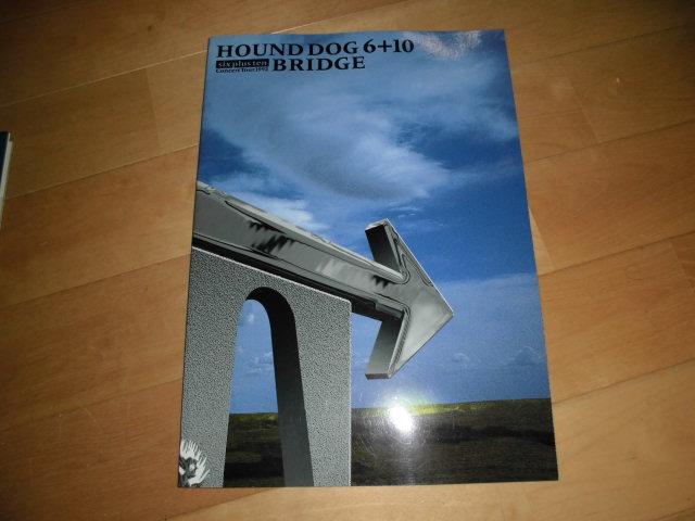 HOUND DOG 6+10/BRIDGE//ツアーパンフレット1992//コンサートツアー//ハウンドドッグ//大友康平