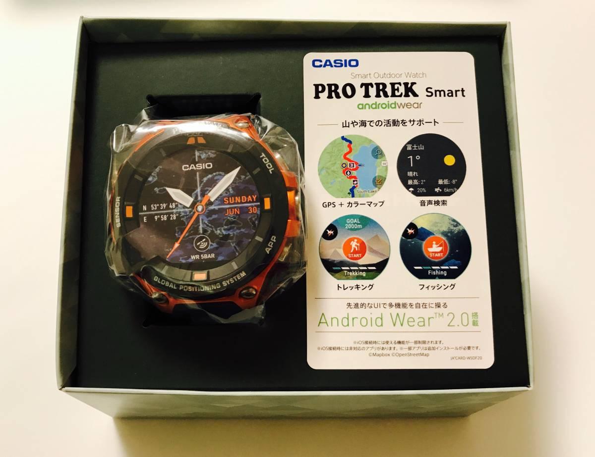 国内正規 新品 1年保証 CASIO スマートウオッチ カシオ プロトレック PRO TREK Smart アウトドア ウオッチ WSD-F20-RG オレンジ Wi-Fi