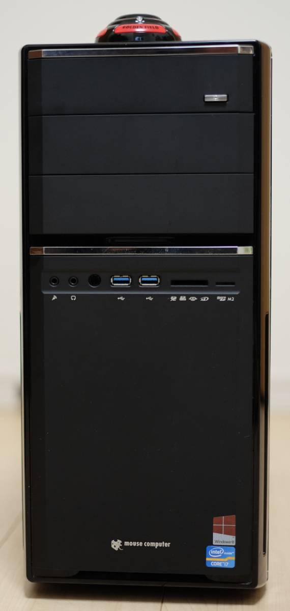 マウスコンピュータ ジャンク品 i7-3770K 8GBメモリ 120GBSSD 1TBHDD GTX650 ブルーレイドライブ