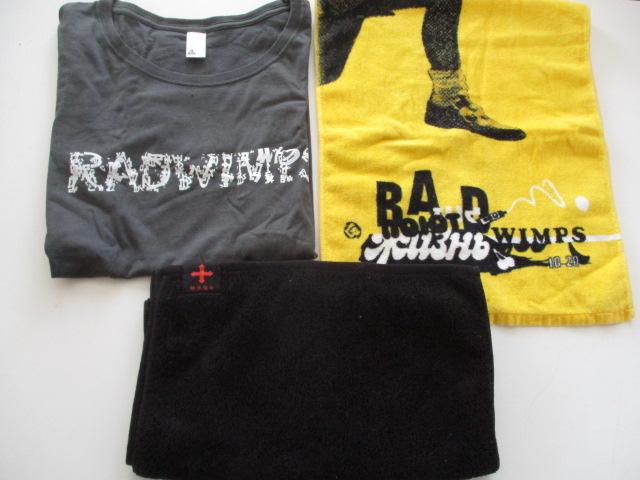 c31-60 RADWIMPS ラッドウィンプス 3点セット 絶体延命ツアー Tシャツ サイズS・フェイスタオル・マフラータオル