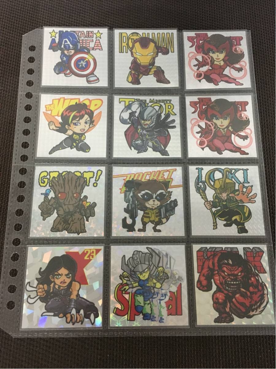 アベンジャーズ シール12枚セット ビックリマン風 MARVEL アイアンマン キャプテンアメリカ マーヴルヒーローズ アメコミ 映画グッズの画像