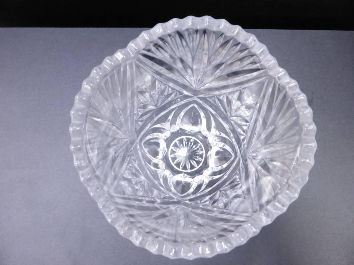 クリスタルガラス ★ フラワーベース 花瓶 インテリア 置物 ☆ お洒落 オブジェ ★ 全長28cm/23cm 2点セット_画像2