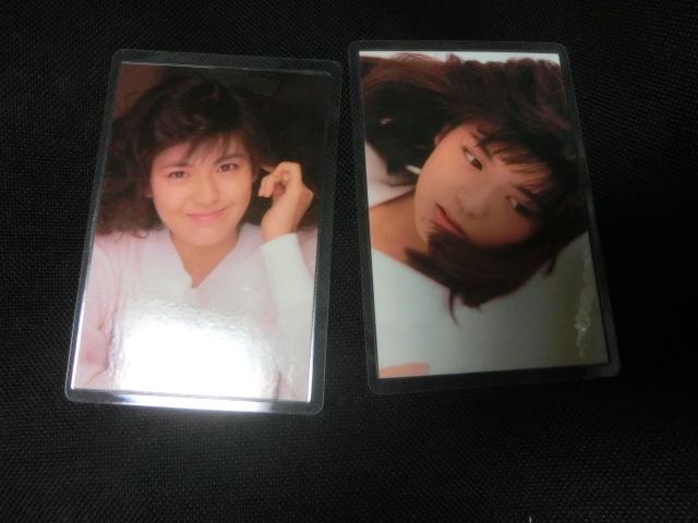 2枚 ラミネートカード 南野陽子(1980年代)