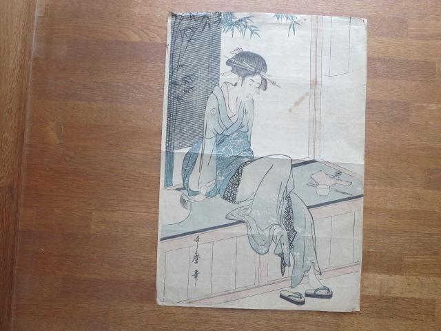 喜多川歌麿 浮世絵 美人 木版画 江戸期