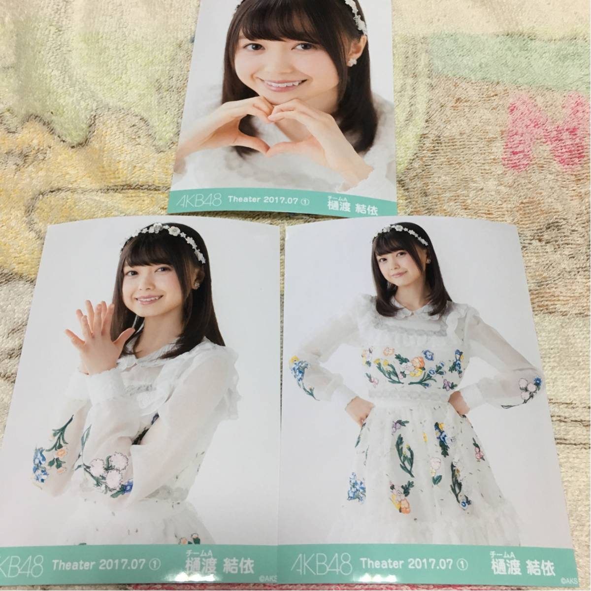 AKB48 月別生写真 7月① 3種コンプ 樋渡結依 ライブ・総選挙グッズの画像