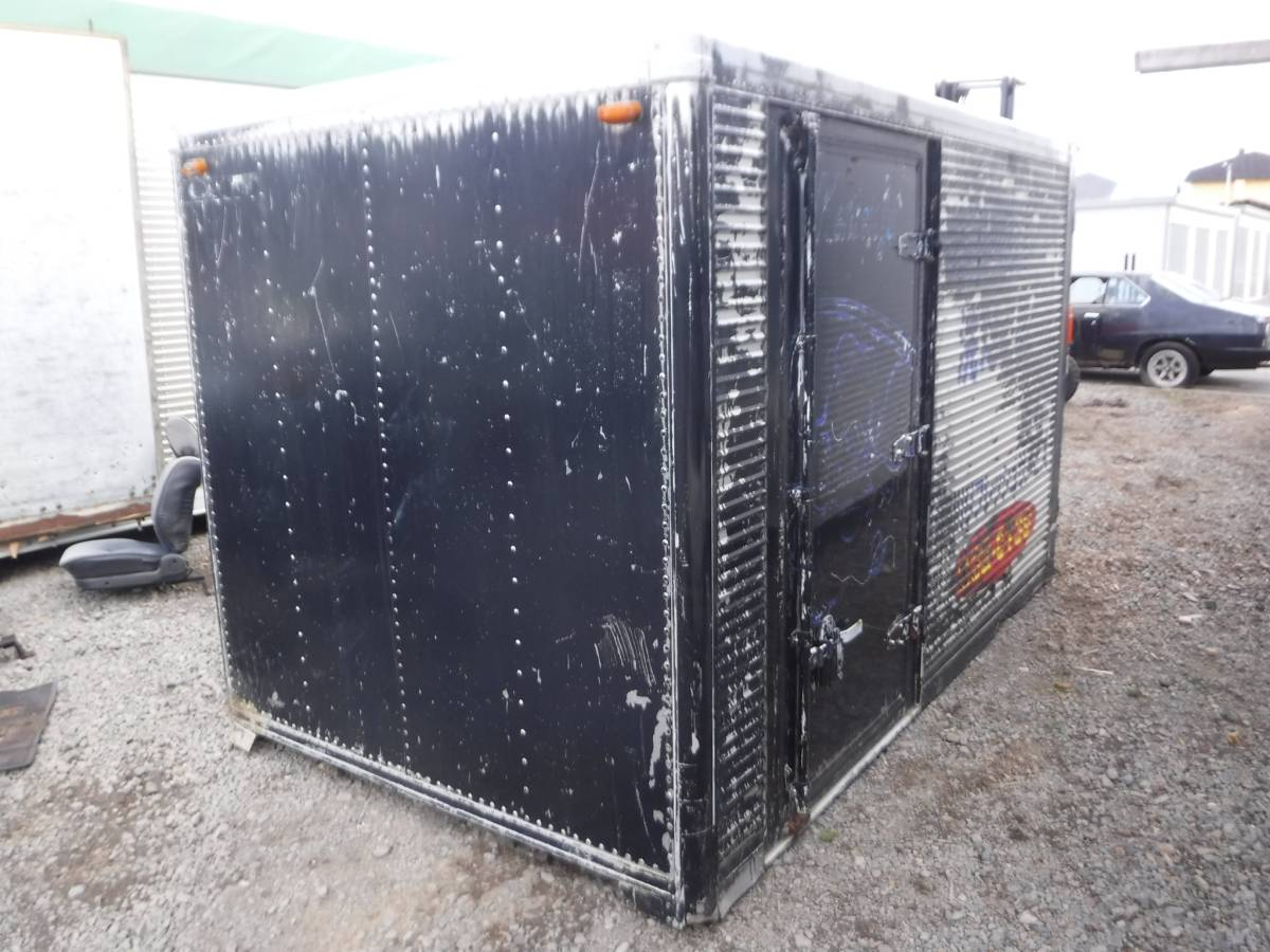 物置 小屋 2トントラック 箱車 3.3m ガレージ プレハブ サテイアン 秘密後れ 隠れ家 北海道_画像2