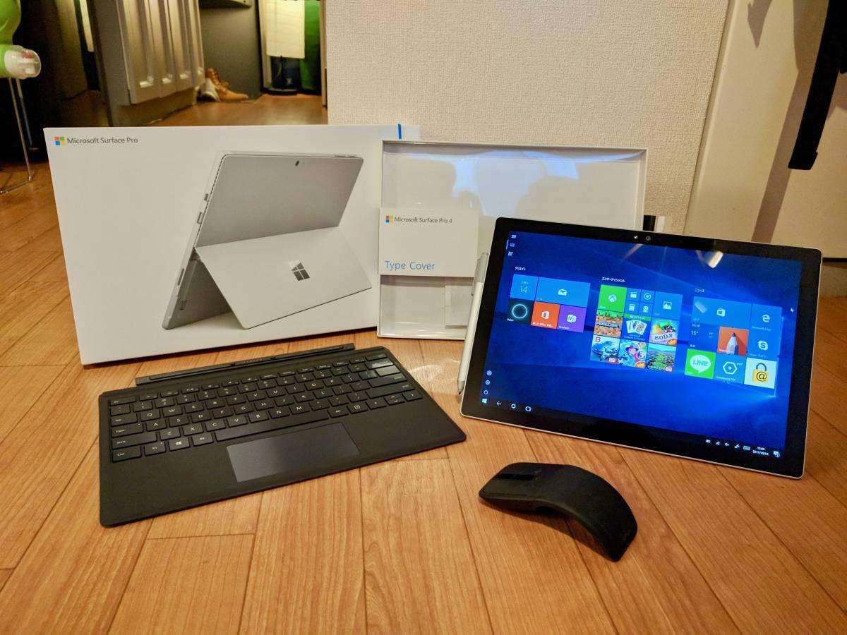 [超美品、オフィステスト機] Surface Pro 4 US配列 SSD 128GB Core i5 RAM 4GB タッチペン、Arc マウス、Surface Cover 付き