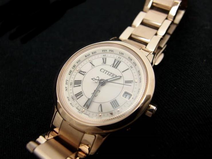 【中古】超美品 シチズン xC クロスシー エコドライブ クオーツ 電波時計 レディース腕時計 H240-T022740 サクラピンク 可動品【本物保証】