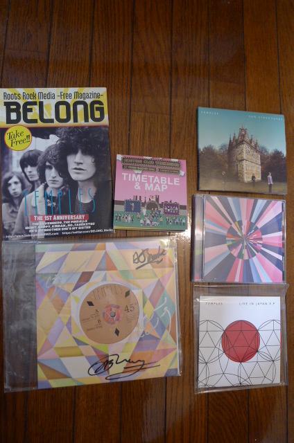 サイン temples テンプルズ レコード CD Colours To Life Live In Japan E.P