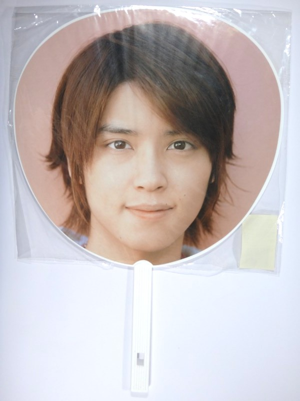 NEWS 手越祐也 うちわ NEWS CONCERT TOUR pacific 2007-2008 (白)