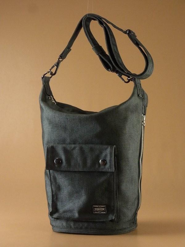 K8221*ポーター/PORTER SMOKY/2WAY/キャンバス/ショルダーバッグ/ボディバッグ/グレー系/鞄