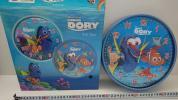 prompt decision immediate bid! new goods *fa Indy ngdo Lead -m glass wall clock * wall wall clock Disney character nimo