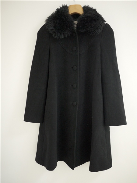 REBECCA TAYLOR. черный черный пальто ангора. шерсть размер 2