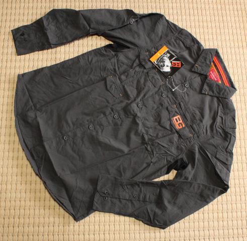 ◆◆新品 Craghoppers Bear Grylls ベアグリルス BG アドベンチャー 長袖シャツ 黒 S 日本未発売