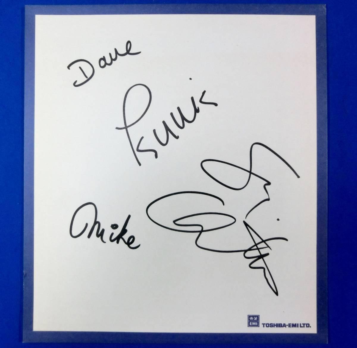 1976年[スージー クアトロ(Suzi Quatro)/デイヴ ニール(Dave Neal)/マイク ディーコン(Mike Deacon)]直筆サイン色紙/ボンテージ