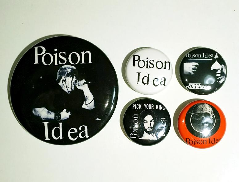 poison idea 缶バッチ セット gism discharge DRI gauze lipcream Crass CRUCIFIX CHAOS UK ganggreen MDC SOB septic death black flag