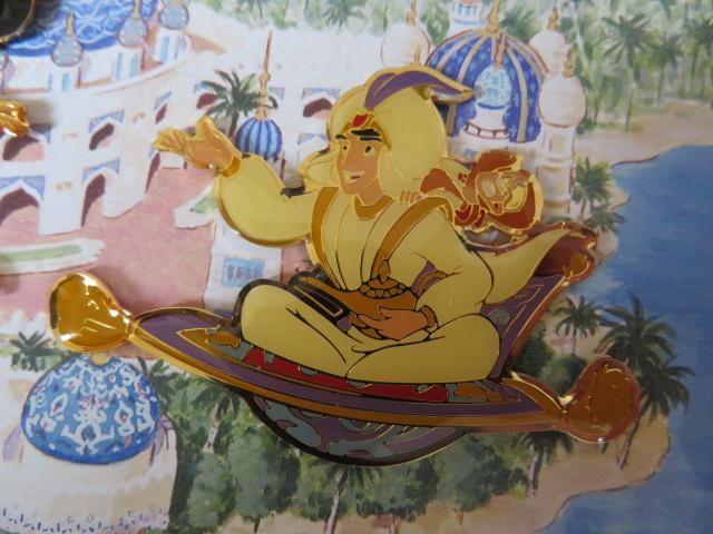 TDS 東京ディズニーシー アラジン アブー 魔法の絨毯 初期 ピン  約7cm×5cm ディズニーグッズの画像