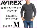 AVIREX Avirex long sleeve crew neck T-shirt M charcoal gray / long T Avirex CHARCOL new goods ound-necked