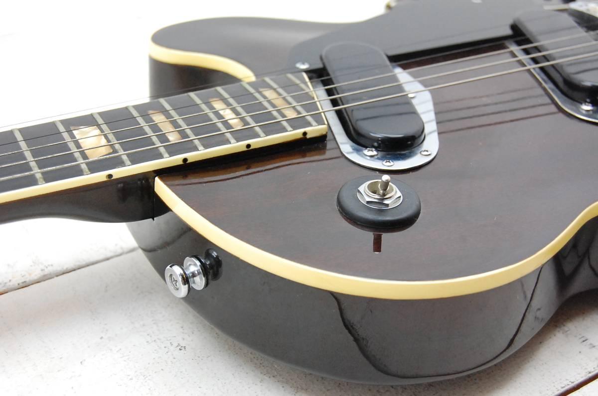 GRECO グレコ PE-480 木調 エレキギター レスポール ハードケース付 京都旧家 JUJIGENGAKKI_画像2