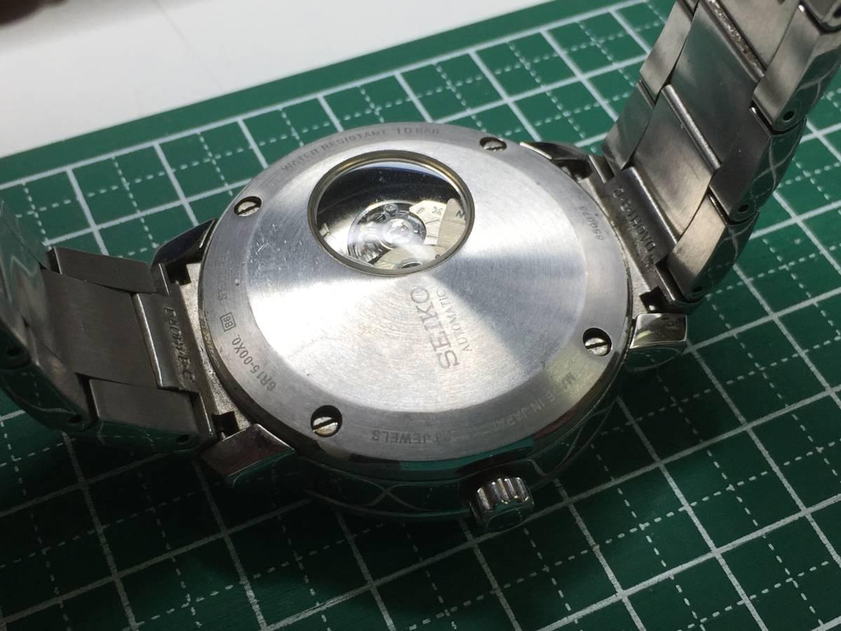 [自動巻き時計]SEIKO/セイコー 6R15-00X0ムービングデザイン メカニカルデジタル 傷多[中古ジャンク]_画像2