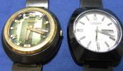 CITIZEN シチズン ブラッキー 自動巻 デイデイト 腕時計 6501 2本 ジャンク まとめて 純正ベルト付 メンズ
