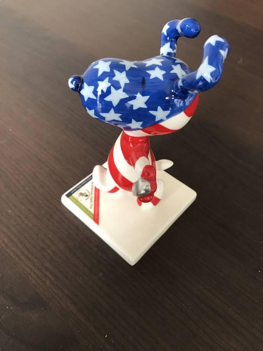 ピーナッツ50周年記念 PEANUTS ON PARADE All-American Snoopy ピーナッツ オン パレード スヌーピー フィギュア WESTLAND GIFTWARE 8389 グッズの画像