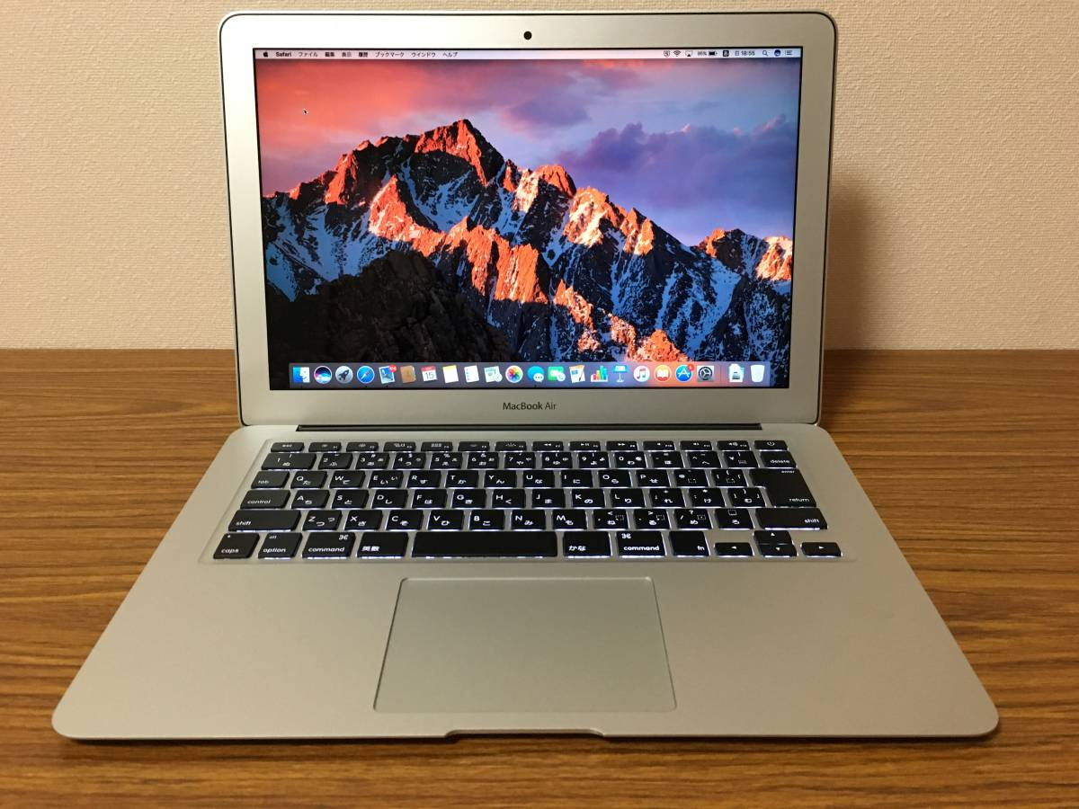 中古超美品 Apple MacBook Air 13.3inch Early 2015 Core i5 1.6GHz 4GB SSD128GB 充放電11回