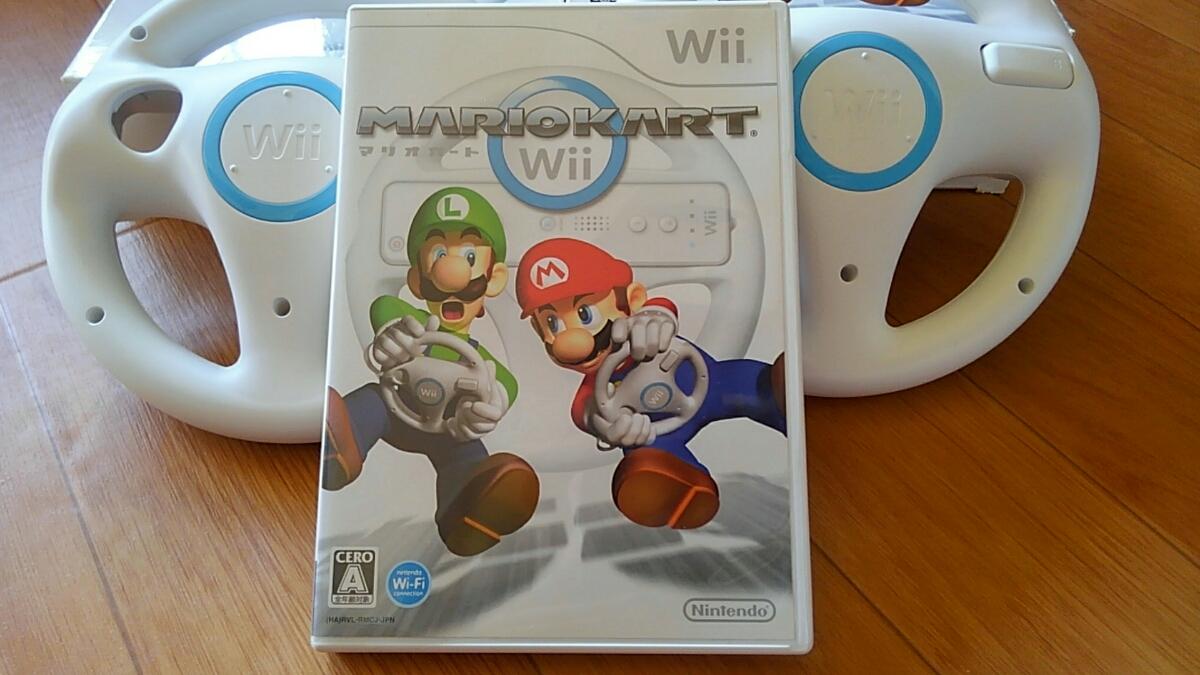 《USED》Wii マリオカート ハンドル セット_画像3