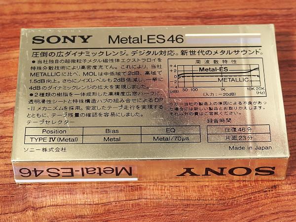 SONY ソニー カセットテープ メタルテープ Metal-ES46 新品未開封_画像2
