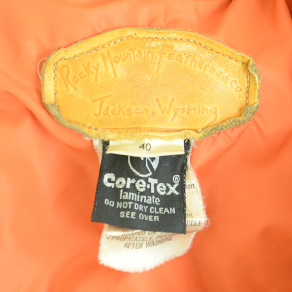 70sビンテージ オリジナル ロッキーマウンテン GORE-TEX ダウンジャケット size 40_画像4