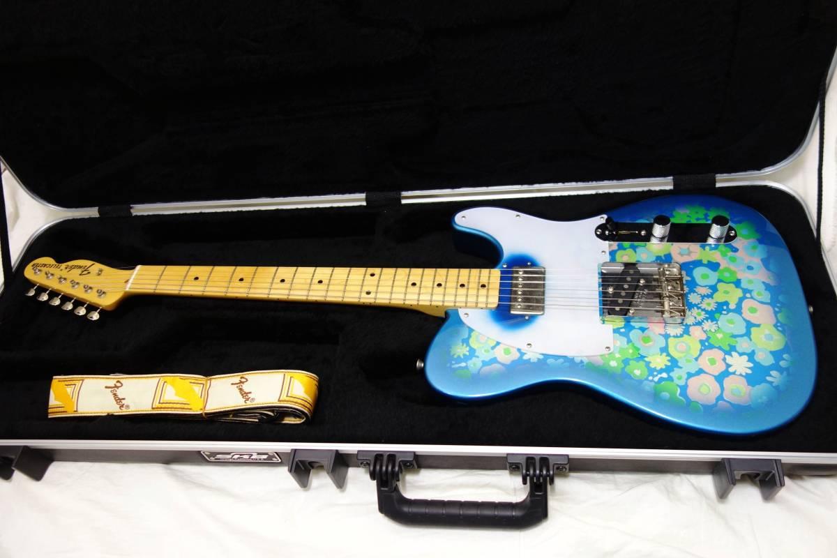 ★レア!Fender Japan ミスチル 桜井風MOD「TL69 BFL」ブルーフラワー HC付き I-1705