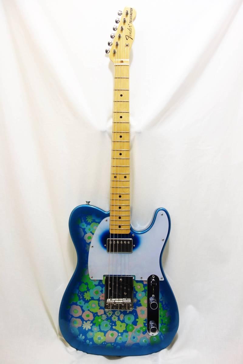 ★レア!Fender Japan ミスチル 桜井風MOD「TL69 BFL」ブルーフラワー HC付き I-1705_画像2