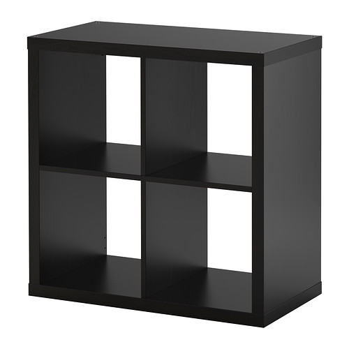 ☆ IKEA イケア ☆ KALLAX シェルフユニット, ブラックブラウン 本棚 モダン おしゃれ <77x77 cm>u ☆