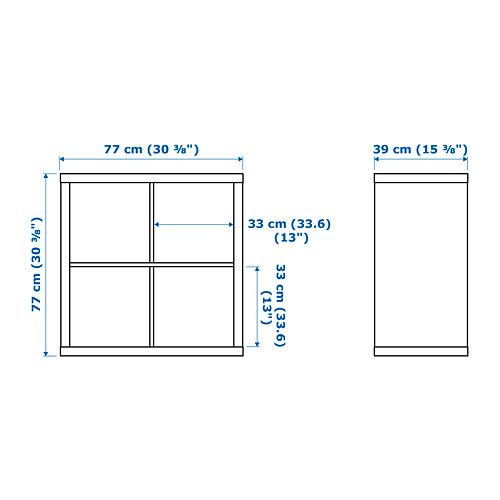 ☆ IKEA イケア ☆ KALLAX シェルフユニット, ホワイト 本棚 モダン おしゃれ <77x77 cm>u ☆_画像4