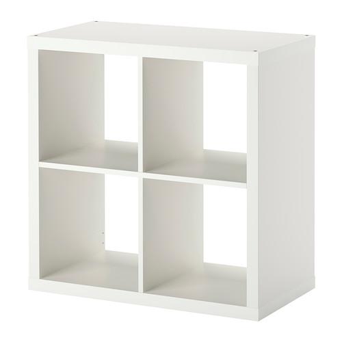 ☆ IKEA イケア ☆ KALLAX シェルフユニット, ホワイト 本棚 モダン おしゃれ <77x77 cm>u ☆