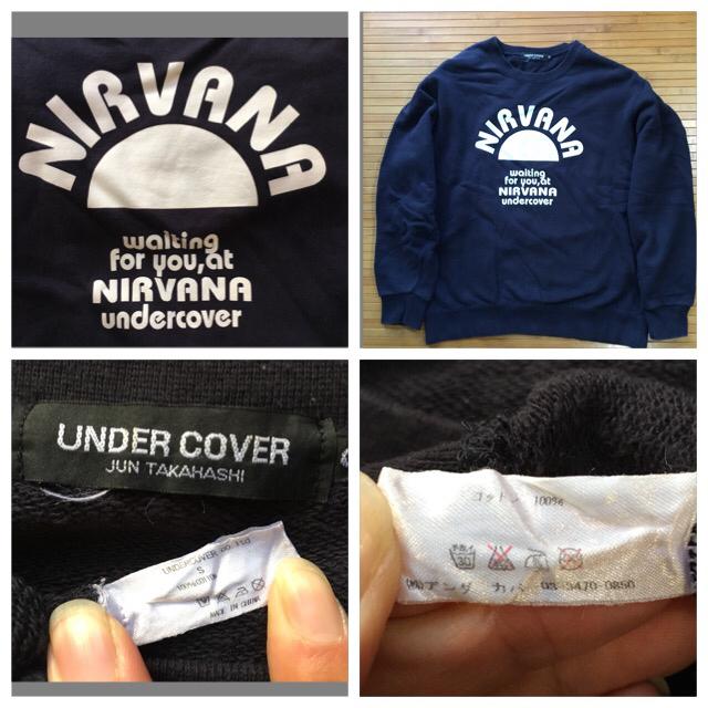 undercover NIRVANA スゥェット★navy s used_画像3