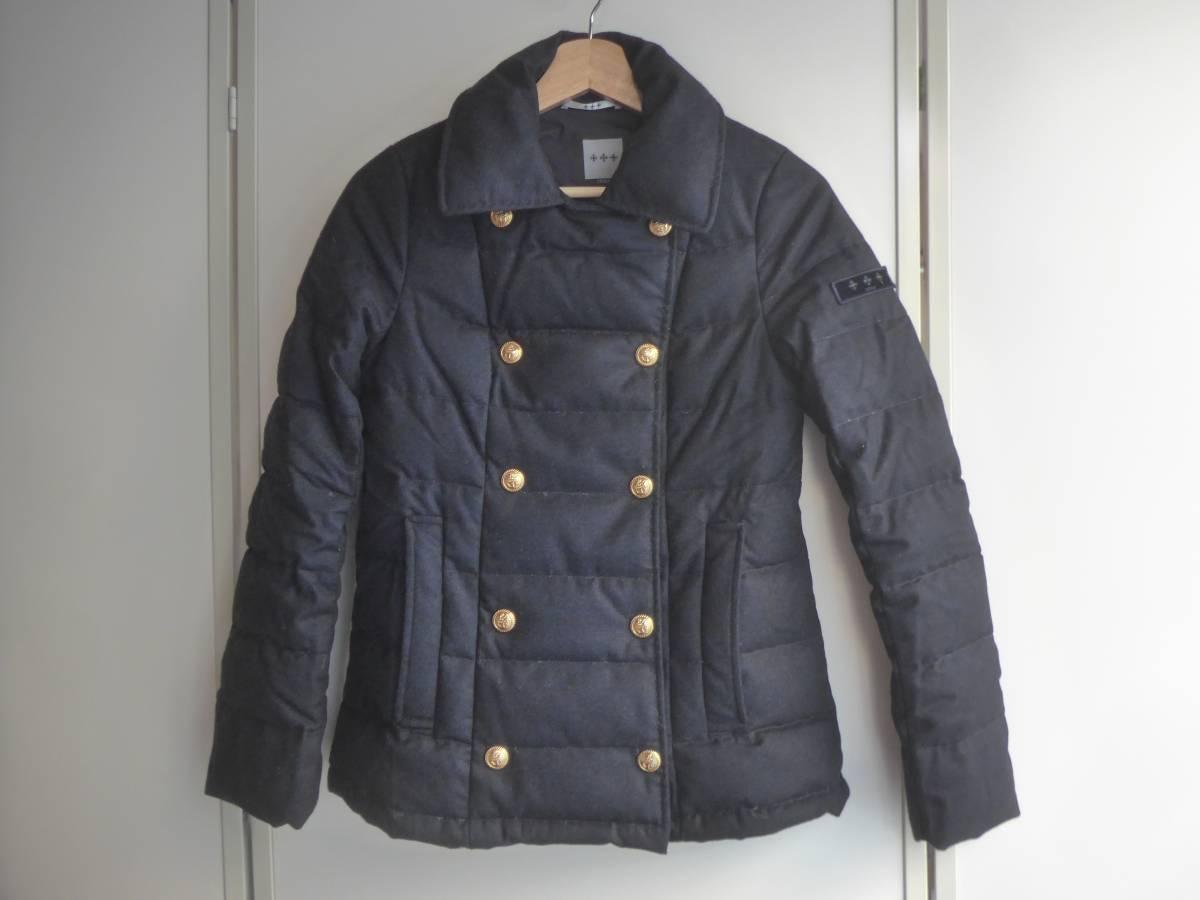 タトラス レディース ダウンジャケット ネイビー Pコート 1 紺色 中古 ブルゾン トップス ゴールド金具 正規