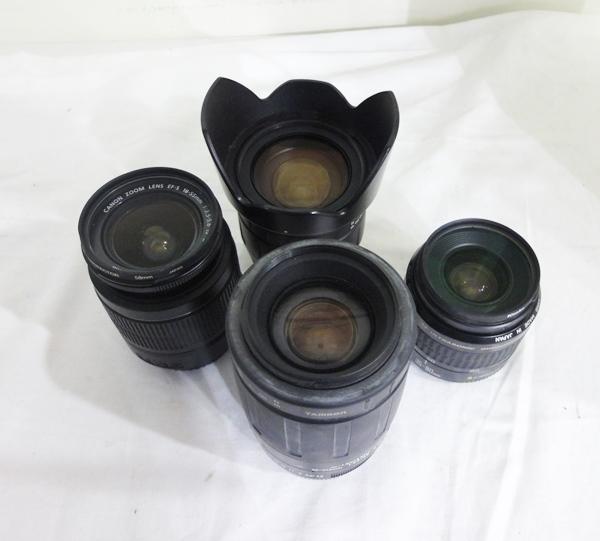 ジャンク品☆Canon TAMRON カメラレンズ EFS 18-55mm(C) 35-80mm(C) 80-210mm(T) 28-105mm(T) 4個セット まとめて☆
