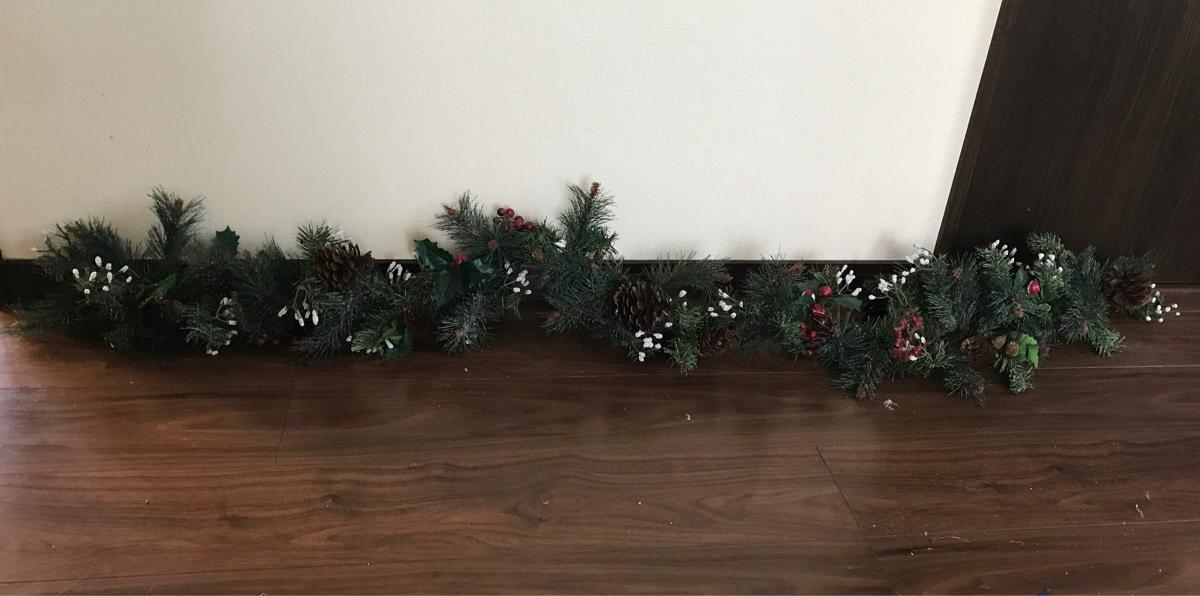 程度良好!美品!クリスマスガーランド 超ロング!最終出品!②_画像2