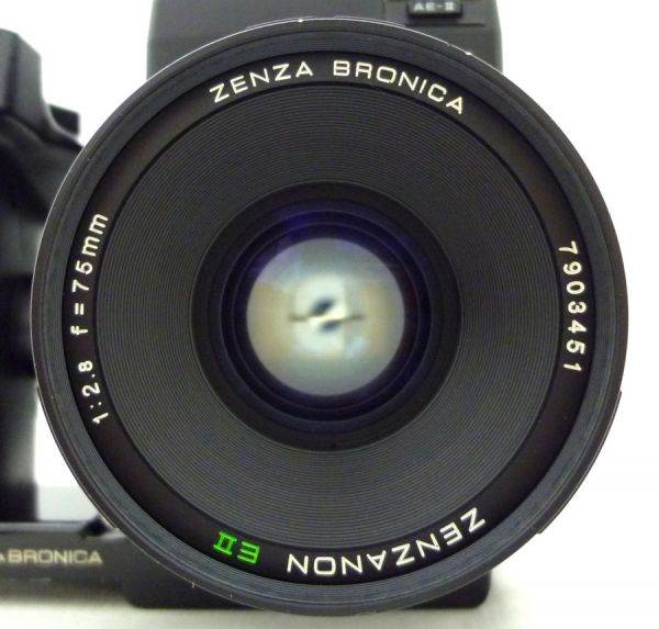 ZENZA BRONICA ETR S ZENZANON EII 1:2.8 f=75mm ゼンザブロニカ ファインダー付 1NHY-154AO_画像2